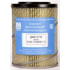 Элемент фильтрующий очистки воздуха ДФВ 5735 (3160-1109080-12) (Difa 4203)/4