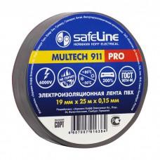 Изолента safeline 19/25 серо-стальная