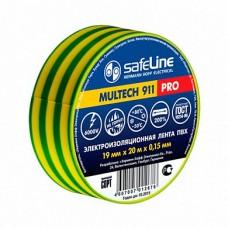 Изолента safeline 19/20 желто-зеленая